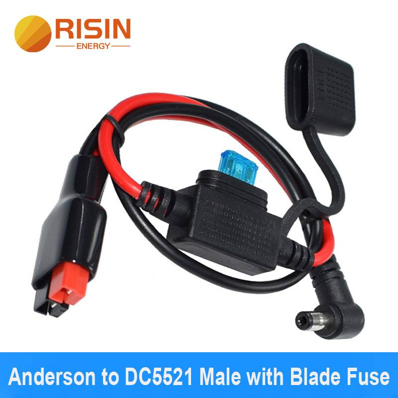 Anderson to DC5521 Male fuse connector