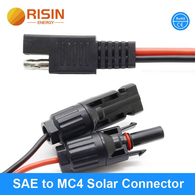 SAE to MC4 solar connector