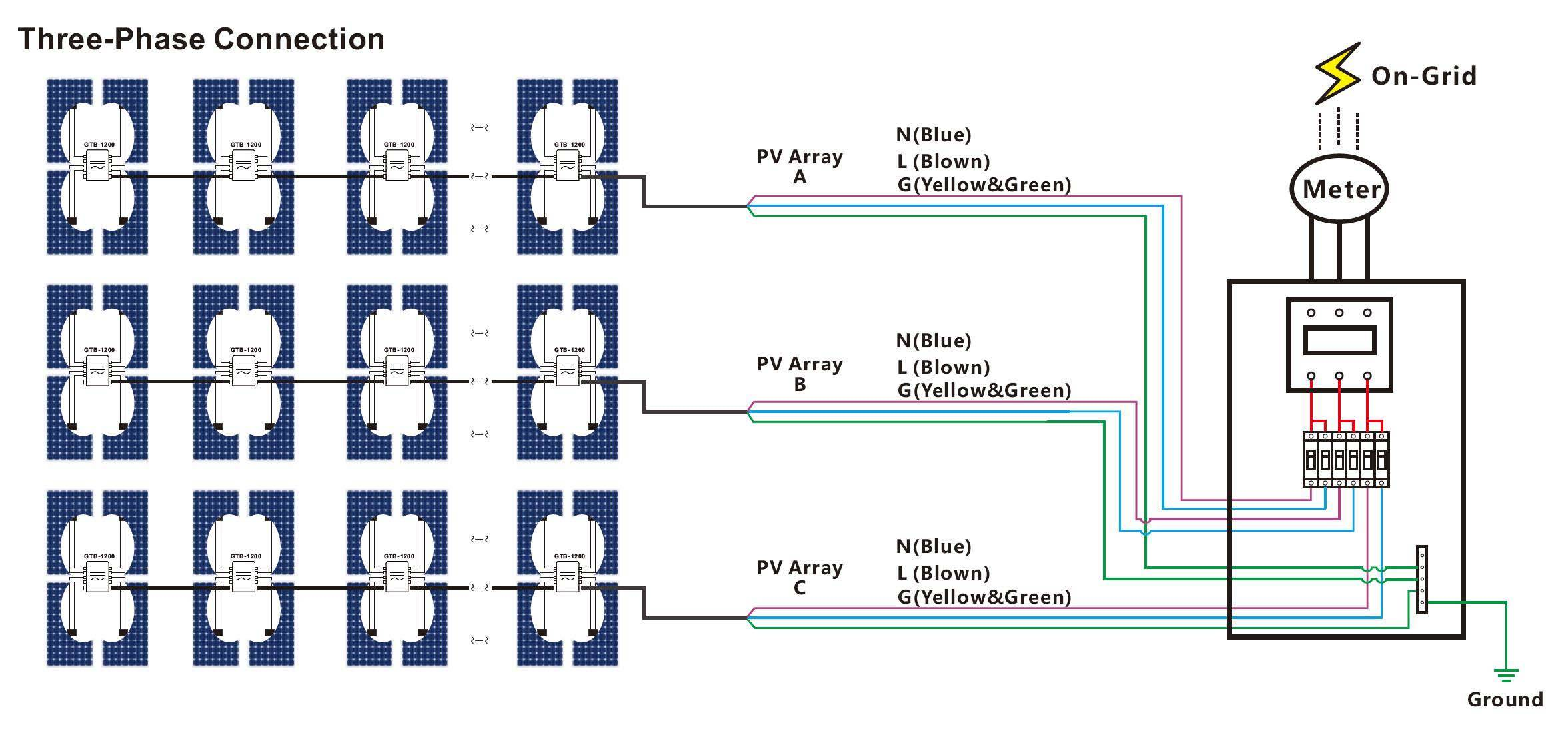 three phase connection